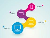Entgegenkommendes Webdesign Lizenzfreies Stockbild