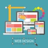 Entgegenkommendes Webdesign, Anwendungsentwicklung und Stockbild