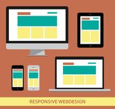 Entgegenkommendes Webdesign illustrarion Lizenzfreies Stockbild