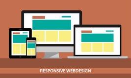 Entgegenkommendes Webdesign illustrarion Stockbild