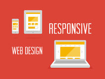Entgegenkommendes Webdesignkonzept Stockfoto