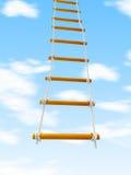 Entgehen Sie Leiter Treppenhaus zum Himmel auf einem weißen Hintergrund Lizenzfreies Stockbild