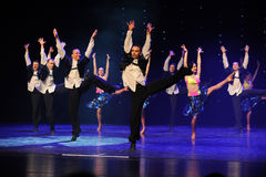 Enthusiasm is bold and unrestrained-Israeli folk dance-the Austria's world Dance. Late on January 9, 2015, brought by Austria World Dance World Dance staged in Royalty Free Stock Images