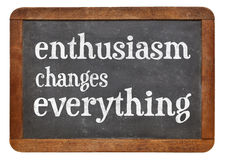Enthusiasm changes everything Royalty Free Stock Photos