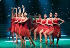 Enthusiasm-The flower of Asia-Latin dance Stock Photo
