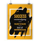 Enthusiasm is the key to all success. Rough poster design. Vector phrase on dark background. Best for posters, cards. Design, social media banners Royalty Free Stock Photo