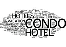 Enthusiasm Spreads For Condo Hotels Word Cloud Concept. Enthusiasm Spreads For Condo Hotels Text Background Word Cloud Concept Stock Images