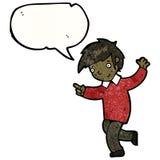 Enthusiastic boy cartoon Stock Images
