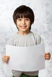 Enthusiastic boy  with  placard Stock Photos