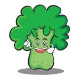 Enthusiastic broccoli chracter cartoon style. Vector illustration Royalty Free Stock Image