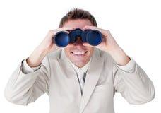 Free Enthusiastic Businessman Predicting Future Success Royalty Free Stock Image - 12446006