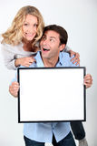 Enthusiastic couple Stock Photography