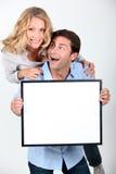 Enthusiastic couple Stock Photography