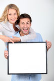 Enthusiastic couple Stock Image