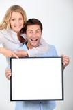 Enthusiastic couple Stock Image