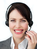 Enthusiastic customer service agent Stock Images