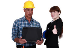 Enthusiastic engineer Stock Photography