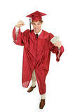Enthusiastic Graduate with Cash Royalty Free Stock Photography