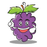 Enthusiastic grape character cartoon collection. Vector illustration Stock Image