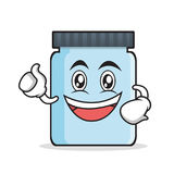 Enthusiastic jar character cartoon style. Vector illustration Royalty Free Stock Images