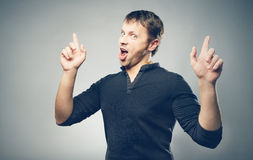 Enthusiastic Man Royalty Free Stock Photos