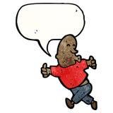 Enthusiastic man cartoon Stock Photo