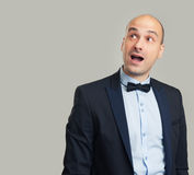 Enthusiastic man looking up Royalty Free Stock Images