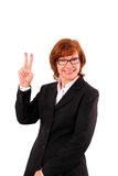 Enthusiastic, mature redhead businesswoman number two Royalty Free Stock Images