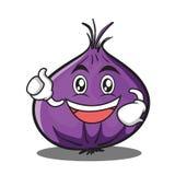 Enthusiastic onion character cartoon Royalty Free Stock Photo