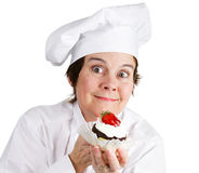 Enthusiastic Pastry Chef Stock Photo