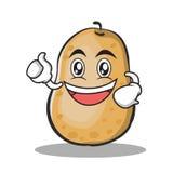 Enthusiastic potato character cartoon style. Vector illustration Royalty Free Stock Image