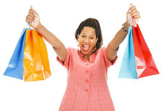 Enthusiastic Shopper Royalty Free Stock Photo
