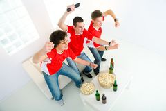 Enthusiastic sport fan Royalty Free Stock Photo