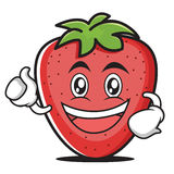 Enthusiastic strawberry cartoon style character. Vector illustration Royalty Free Stock Image