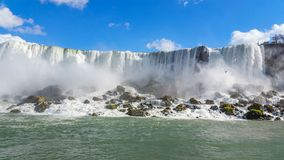 Great waterfalls flowing enthusiastic and energetic royalty free stock photography