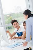 Enthusiastic student Stock Image