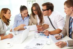 Enthusiastic team Royalty Free Stock Photography