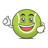 Enthusiastic tennis ball cartoon character. Vector illustration Stock Photos