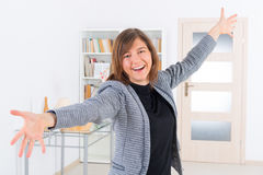 Enthusiastic woman Stock Photos
