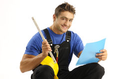 Enthusiastic worker Royalty Free Stock Image
