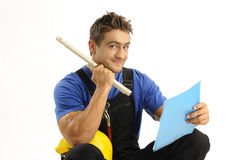 Enthusiastic worker Stock Image
