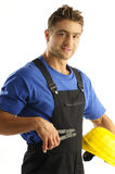 Enthusiastic worker Stock Images