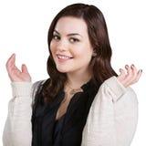 Enthusiastische junge Frau Lizenzfreie Stockfotos