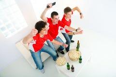 Enthusiastischer Sportfreund lizenzfreies stockfoto