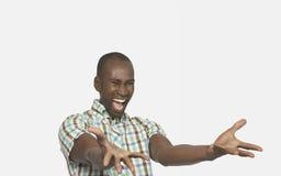 Enthusiastisches Mann-Gestikulieren Lizenzfreie Stockfotos