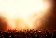 Enthusiastisches Publikum Stockfotos
