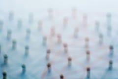 Entidades de lazo abstractas Red, establecimiento de una red, medio social, conectividad, extracto de la comunicación de Internet fotos de archivo libres de regalías