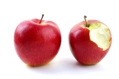 entier mordu par pommes photographie stock