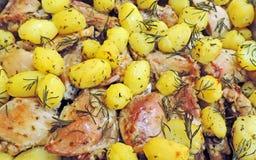 entier rôti par poulet Photo libre de droits