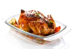 entier rôti par poulet Photo stock